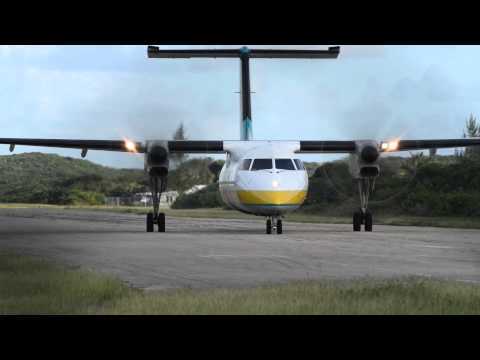 Bombardier Dash 8 300 (de Havilland Canada DHC-8), Bahamasair: Problem with right landing light?