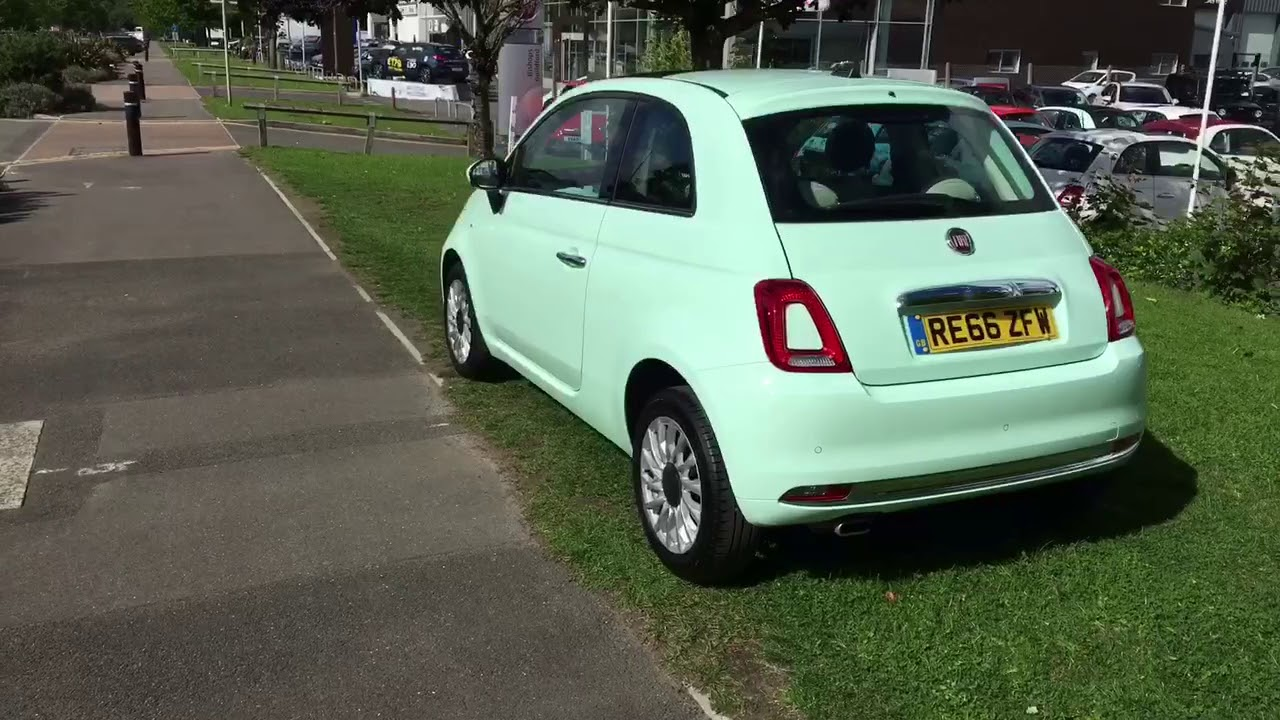 fiat 500 1 2 lounge mint green re66zfw youtube. Black Bedroom Furniture Sets. Home Design Ideas