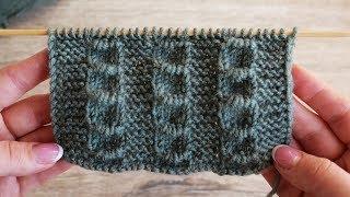 Узор «Окошки» спицами | «Windows» knitting pattern | Minik yüzük modelinin yapılışı
