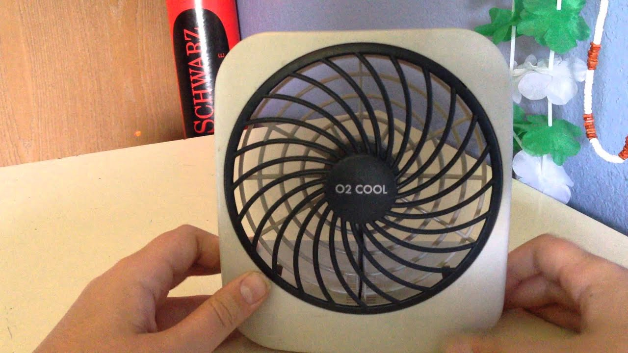 02 Cool 5 Battery Fan : O cool quot battery powered fan youtube