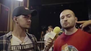 Интервью реперов на батле VERSUS  Oxxxymiron VS Слава КПСС Гнойный