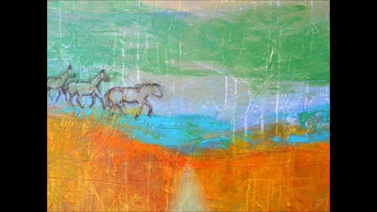 Abstract Painting Pasture Art