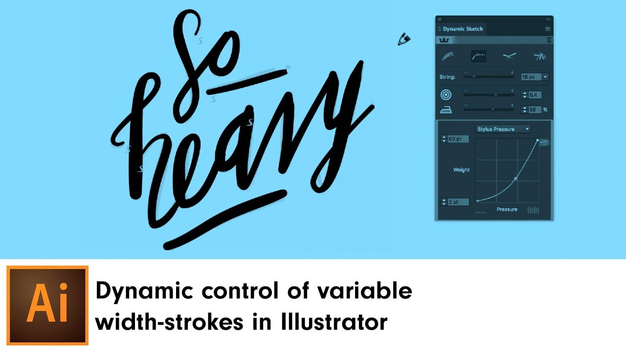 Dynamic control of variable width-strokes in Illustrator | DynamicSketch