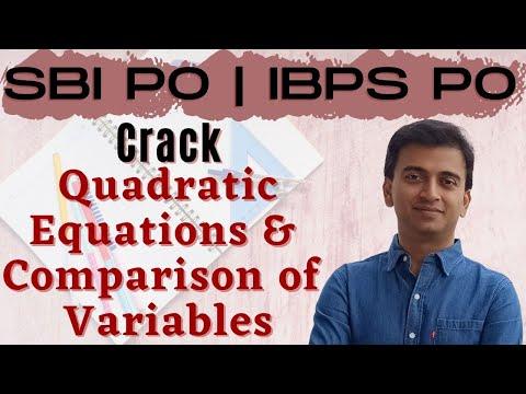 Quadratic Equations: Quantitative Aptitude | SBI PO 2017 Online Classes #DAY 2