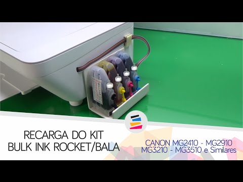 Recarga do Bulk Ink na Canon MG2410 MG2910 MG3210 MG3510 e Similares - SULINK