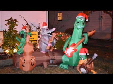 Alligator Band Airblown Christmas Inflatable