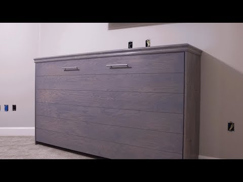 Horizontal Murphy Bed With Ship Lap! DIY | Woodbrew Workshop
