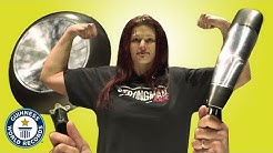 Strongwoman CRUSHES frying pans - Guinness World Records