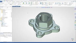 T-FLEX CAD 15 - Создание чертежа фланца (2D проекции)