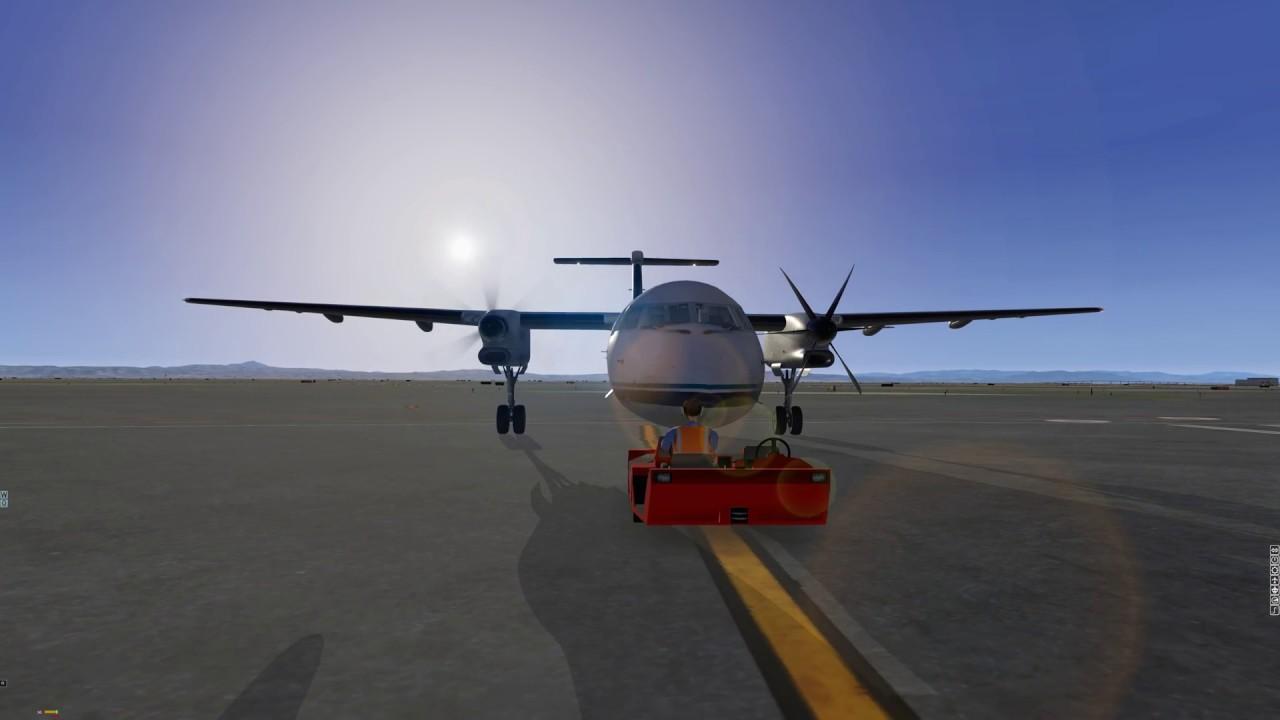 X-Plane 11 - FlyJSim Dash-8 Q400 - KSFO-KSFO (start-up, takeoff, circuit,  landing)
