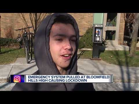 All-clear Given At Bloomfield Hills High After Emergency Alert System Triggered
