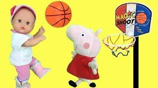 Peppa pig en español: juegos con muñecas bebes nenuco Lola en el cole o escuela.Nuevo capitulo 2018