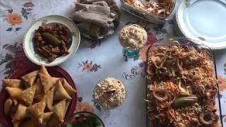 Epic Iftar meal (Samosa, Rice, Tibs & more) | Okuby Hanfare