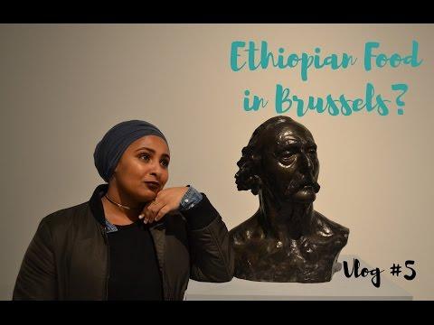 Ethiopian food in Brussels?? (Belgium Trip Part 1 - Vlog #5)