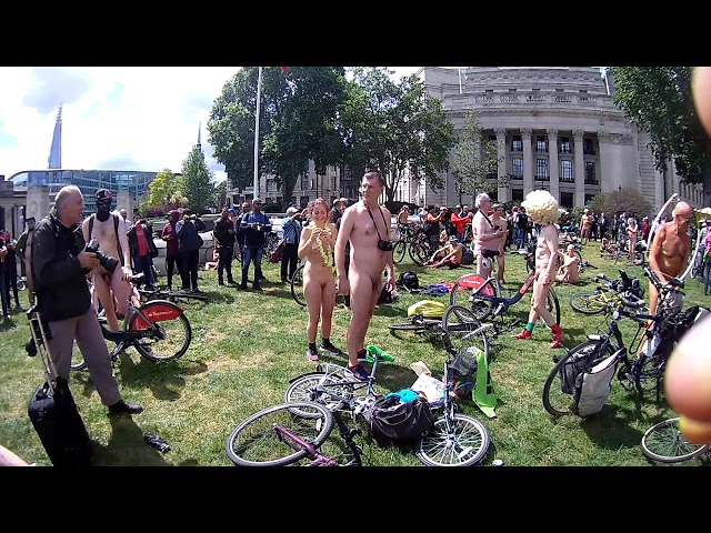 The London 2019 Naked Bike Ride [Warning Contains Full Frontal Nudity]