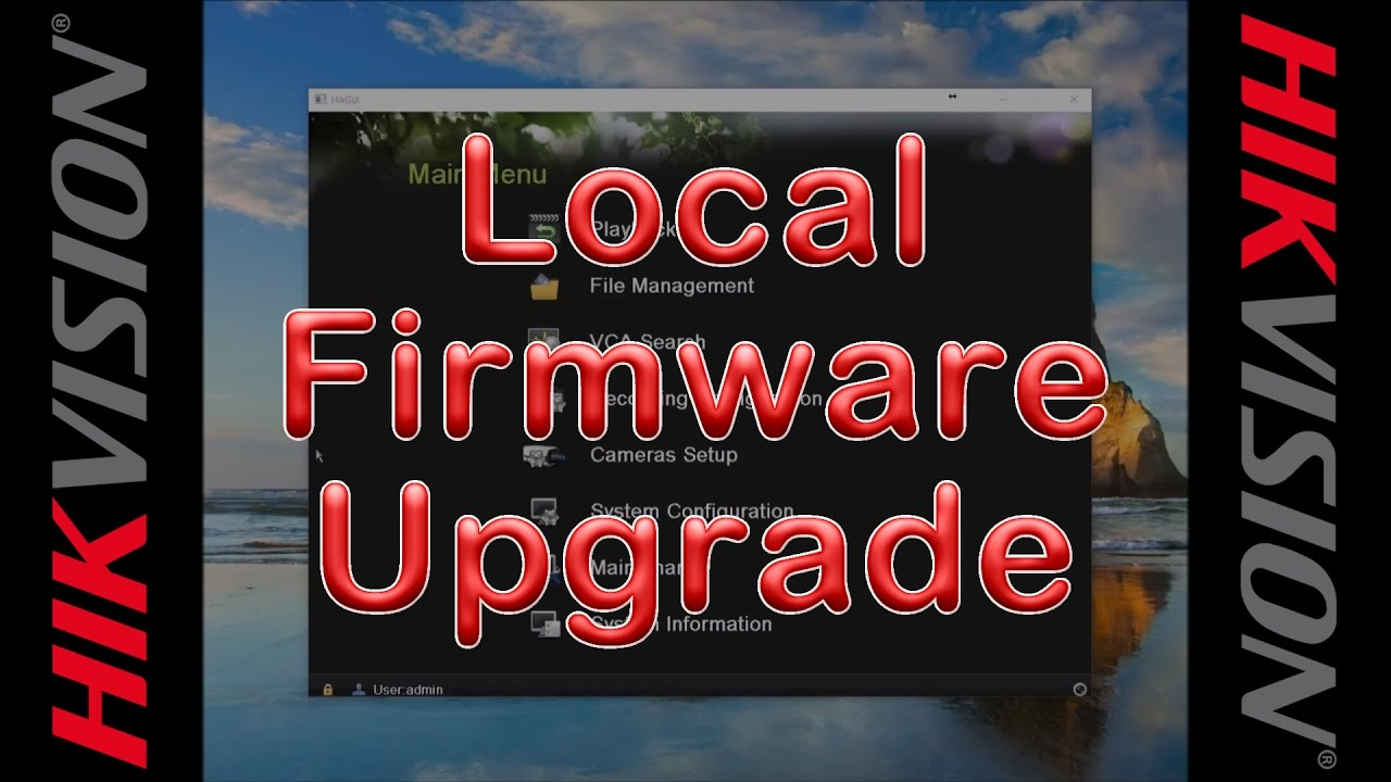 Upgrade Hikvision NVR/DVR Firmware via Local Interface