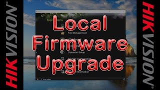 Upgrading firmware using rs232 hikvision