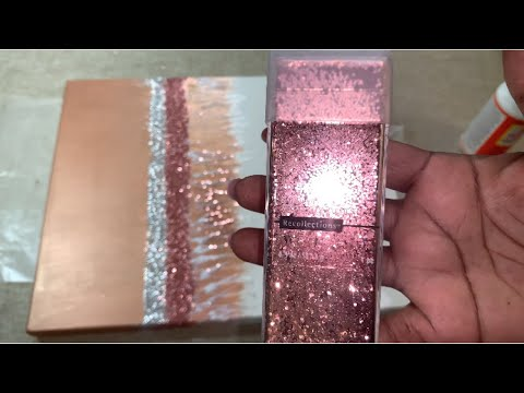 Glitter Wall Art + 2 Bonus Glam DIYs || Awesome Thrift Store Transformations