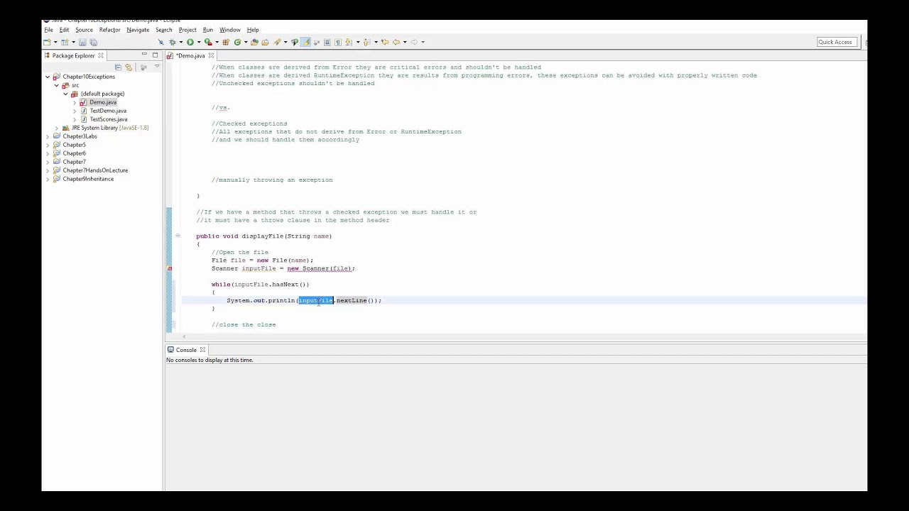 Java Exception Handling-Checked and Unchecked exceptions