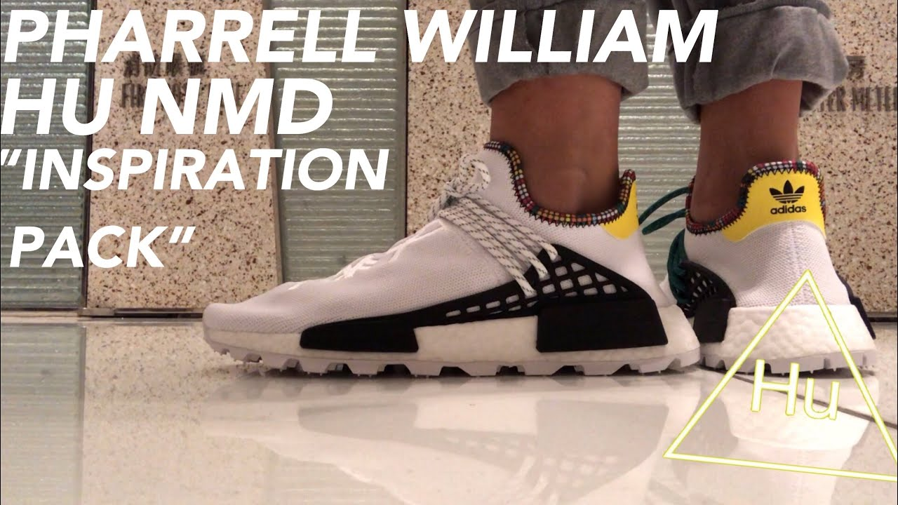 Pharrell Williams X Adidas Hu Nmd Inspirational Pack Unboxing On Foot Review Youtube