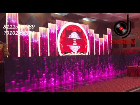 LED Wall Stage Backdrop Wedding Reception Event Decoration India +91 8122540589 (WA)