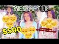$500 YESSTYLE HAUL!!! PASTEL TRY ON HAUL | KOREAN FASHION HAUL 2020
