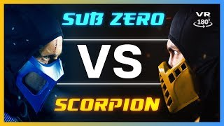 SUB ZERO Vs SCORP ON Live Action Mortal Kombat VR180 Part 2