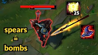 YOUR HP IS - 500 | SPEARS = BOMBS | NIDALEE INSANE DAMAGE