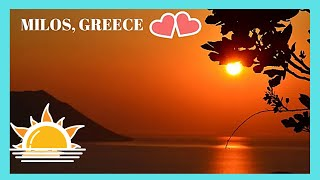GREECE: Island of MILOS, last SPECTACULAR SUNSET for the SUMMER (Music by GRIEG)