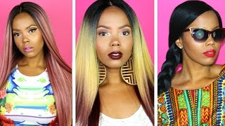#EPIC EVLYN WIG LOOKBOOK | FREETRESS DELUX LACE FRONT WIG - EVLYN COLLECTION