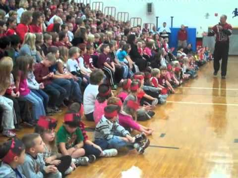 Pep rally at Spooner Elementary School