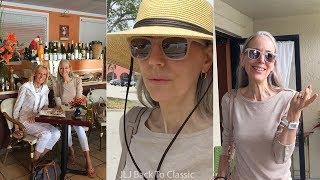 Vlog/Over 50: Target Visit, Lunch Restaurant Bonjour, Naples FL; White Jeans OOTD / Classic Style
