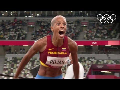 Yulimar Rojas de Venezuela ganó la medalla de oro en triple salto   #Tokio2020 Highlights