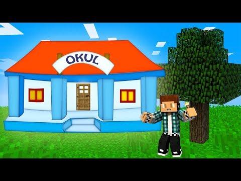 OKUL'un İÇİNDE YAŞAMAK - Minecraft