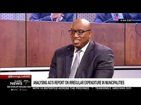 Analysing AG's report on irregular expenditure in municipalities