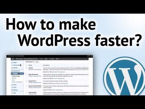How to make WordPress Faster if WordPress is Slow