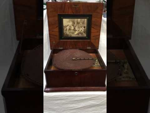 A Victorian Polyphon disk musical box at Unique Auctions