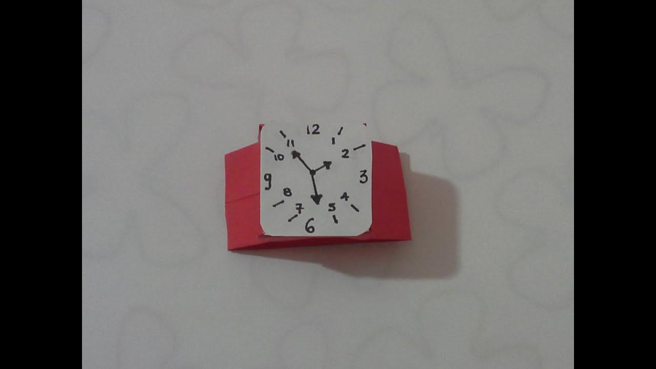 729a1bfad842 Como hacer un reloj de papel - YouTube