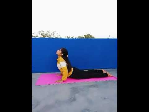 bhujangasana yoga fitness with malvika  youtube
