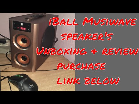 iBall Musiwave BT 2.1 Computer Speakers (Golden Brown) Unboxing and review...Purchase link below