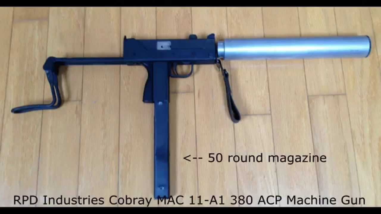 Cobray full-auto MAC-11 in 380ACP with and without suppressor