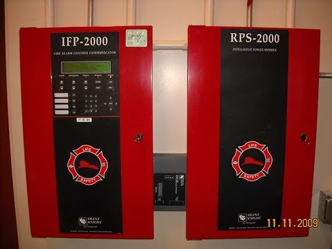 Fire System Overview Silent Knight Ifp 2000 Panel Youtube