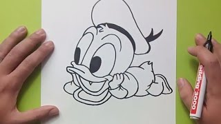 Como dibujar al pato Donald paso a paso 2 - Disney   How to draw Donald duck 2 - Disney