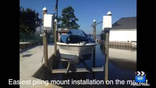 4500#, 5600#, 7000# Piling Mount Cradle Boat Lift