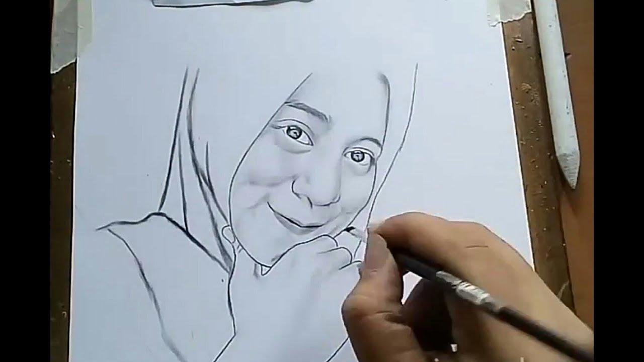 Trik mudah menggambar wajah realis irwan art drawing