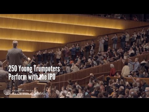 250 Young Trumpeters Perform with the Israel Philharmonic