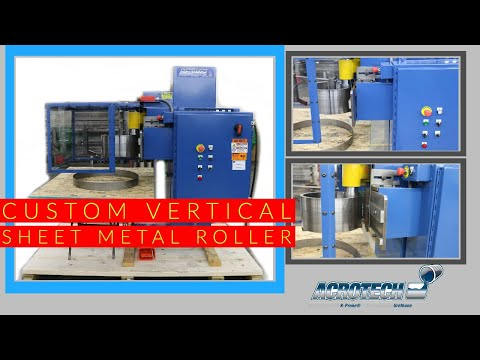 Acrotech Custom Vertical Sheet Metal Rolling Machine V-1006
