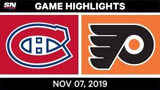 NHL Highlights   Canadiens vs. Flyers – Nov. 07, 2019