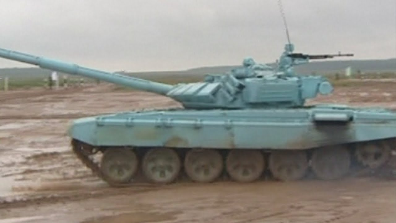 Tank Biathlon: Russian T-72 tanks fire shells and race in high-powered army event