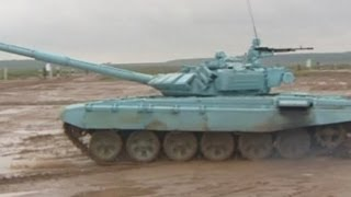 tank biathlon russian t 72 tanks fire shells and race in high powered army event
